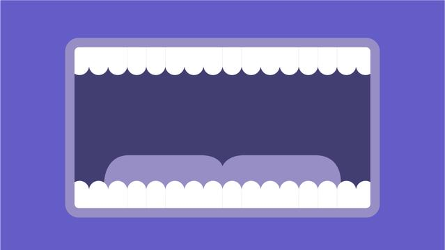 Ilustración de una boca abierta