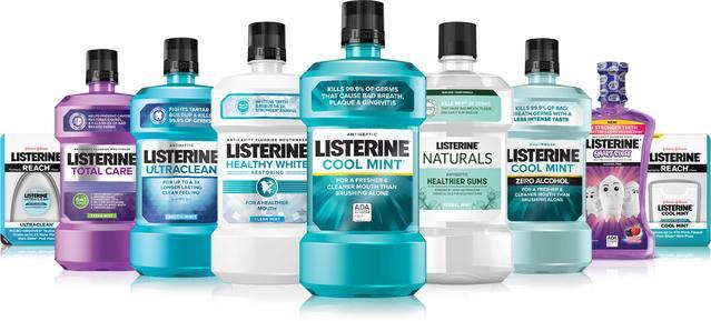 Variedad de productos Listerine disponibles